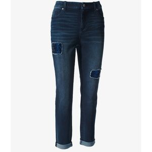Chico's Sequin Distressed Girlfriend Jeans